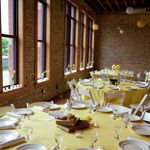 Pastel Yellow Wedding Dinner Table Design