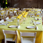 Pastel Yellow Table Settings