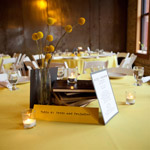 Literature-Themed Wedding Table Centerpieces