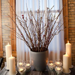 Vase and Candle Wedding Reception Décor