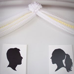Silhoutte Wall Décor for Wedding Reception