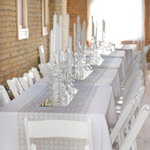 White Wedding Reception Tables