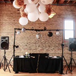DJ Booth at Day Block Event Center Wedding