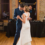Couple dancing at Day Block Event Center Wedding